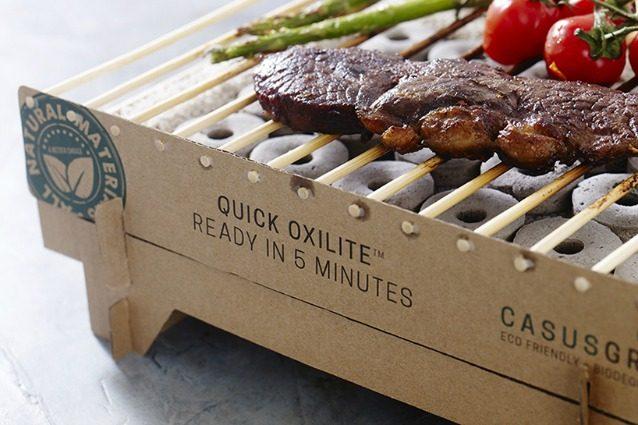 Casusgrill: la prima griglia di cartone usa e getta 100% biodegradabile