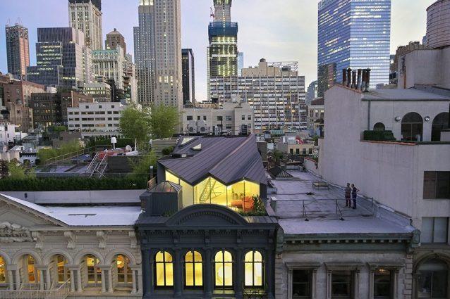 New York, un attico segreto sul tetto di uno storico edificio di Tribeca
