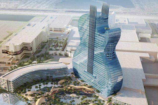 L'Hard Rock Hotel della Florida è a forma di chitarra gigante