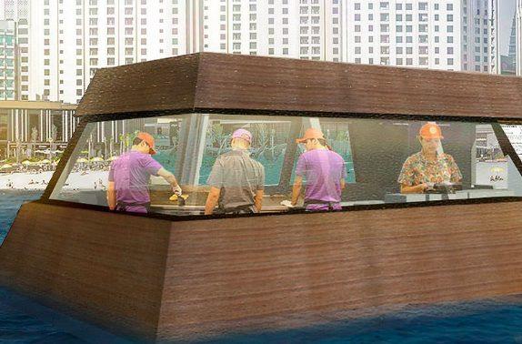 Aqua pod la prima cucina galleggiante al mondo for Un mezzo galleggiante