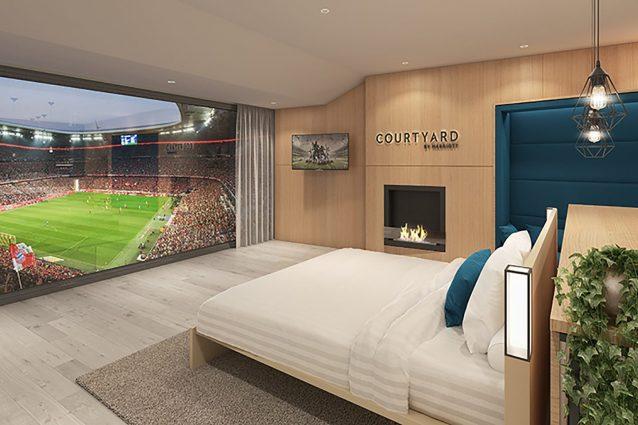 Suite di lusso in prima fila allo stadio: arriva l'hotel con vista sull'Allianz Arena
