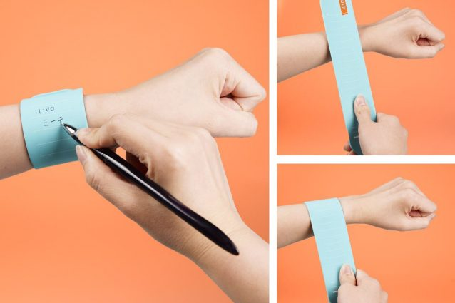 Wemo, il post-it che diventa un bracciale da indossare