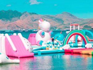 Inflatable Island, l'isola degli unicorni gonfiabili al largo delle Filippine