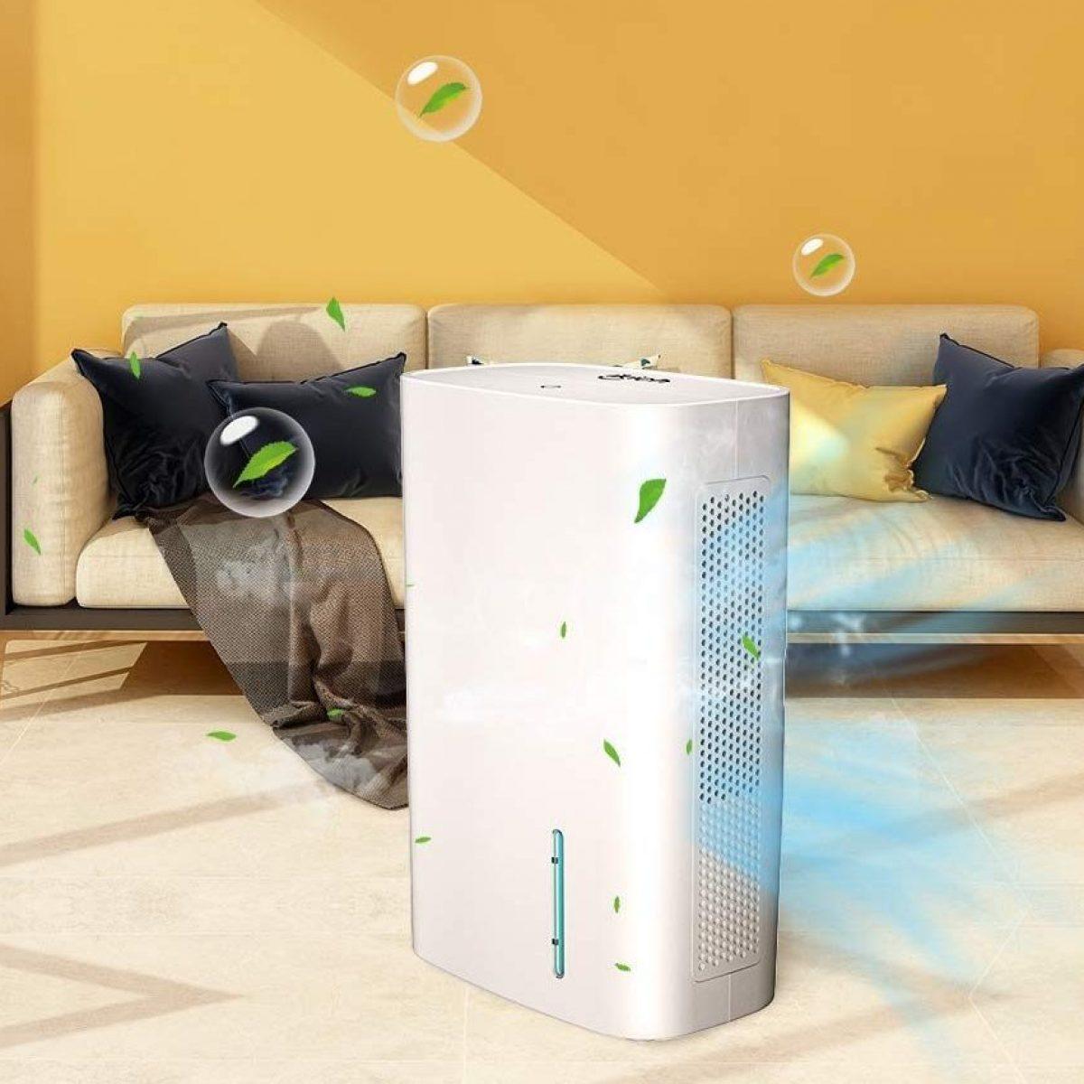 LUKO 20L deumidificatore portatile vestiti asciutti e purificare laria cantina garage per casa silenzioso ed elettrico grande serbatoio da 5,5 litri con tubo di drenare bagno camera da letto
