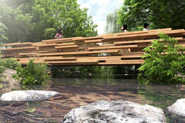 Exploded view, il ponte di legno sospeso sul fiume Liesbeek