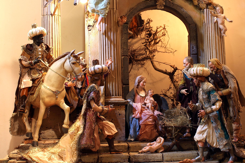 Bue e Asino in Terracotta Cm 12 Natività Sacra Famiglia Pastori Presepe