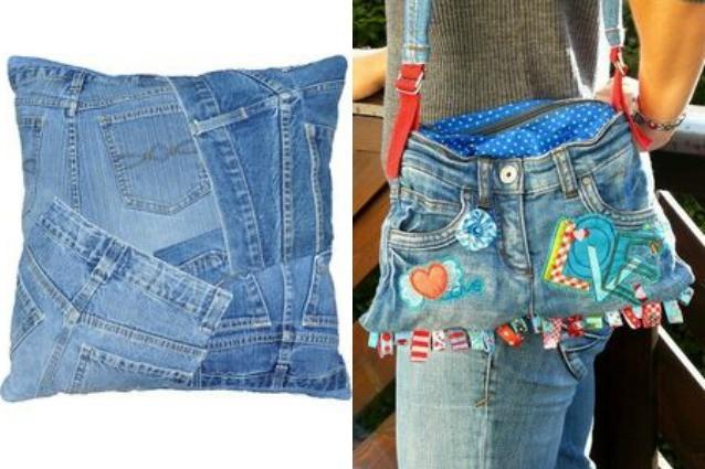 Come riciclare i jeans vecchi alcune idee creative per for Borse fai da te jeans