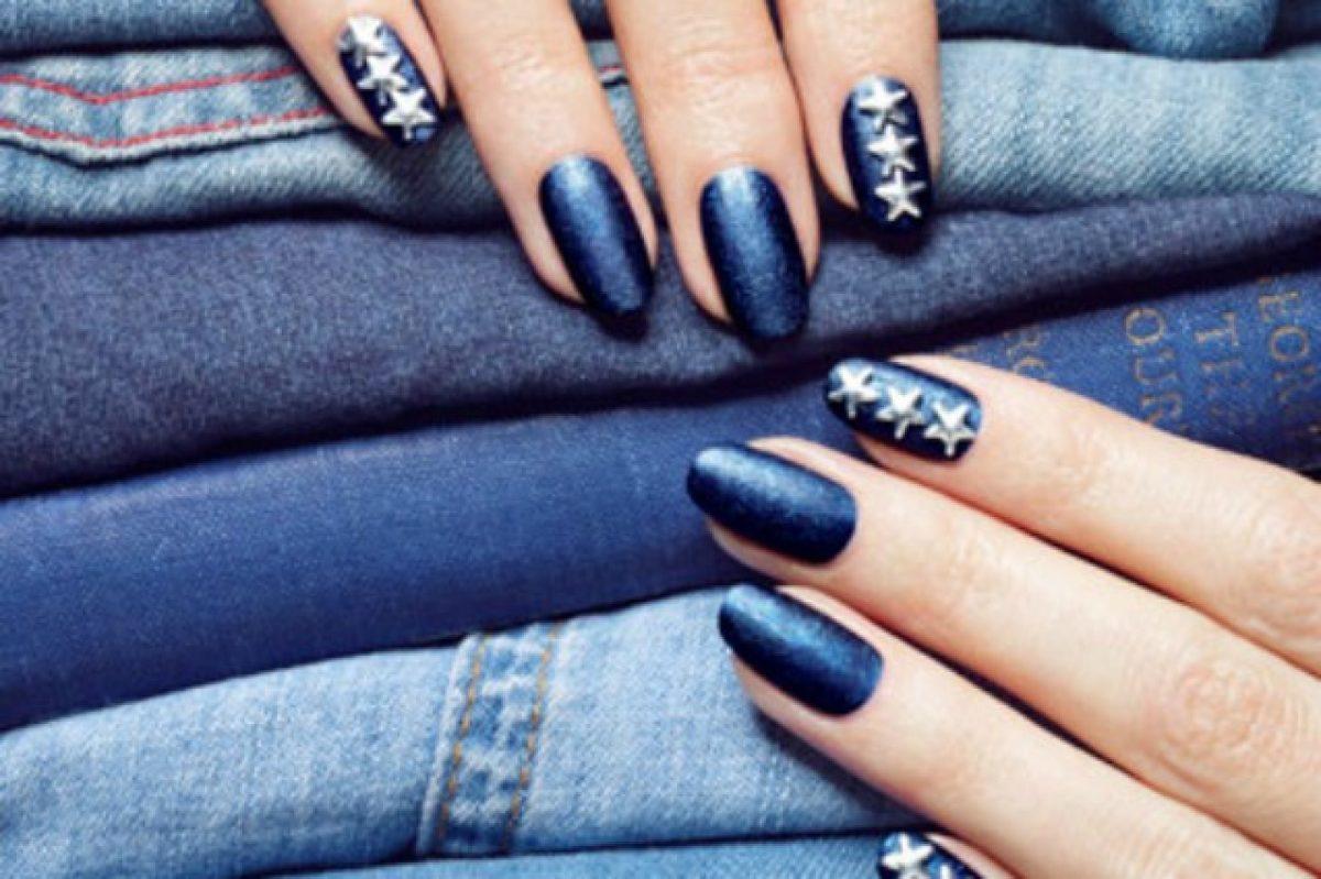 Le unghie della settimana denim manicure con gli smalti ad effetto jeans  (FOTO)