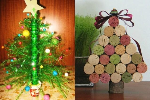 Alberi Di Natale In Legno Da Parete : Idee creative per un albero di natale fai da te foto