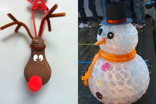 Decorazioni natalizie e addobbi di natale fai da te foto - Decorazioni natalizie fatte a mano per bambini ...