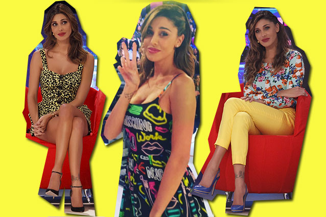 Belén veste Moschino  la svolta pop a colori della Rodriguez per la  primavera 39289e790bd