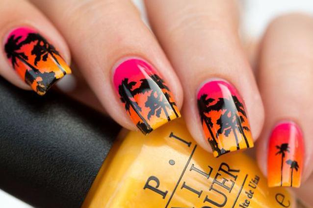 Le unghie della settimana: tropical manicure