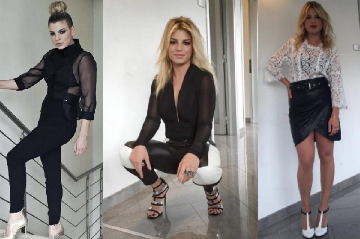 sports shoes 03d3d a314d Emma veste in bianco e nero ad Amici 2016: tutti i look ...