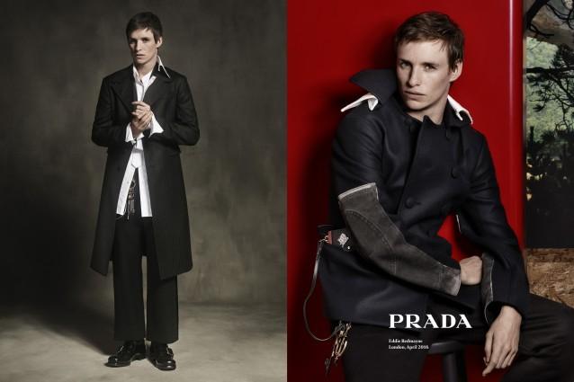 "Eddie Redmayne nei panni di modello, l'attore di ""The Danish Girl"" è testimonial Prada"
