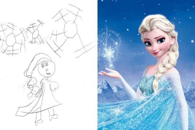 """Le principesse Disney viste dagli occhi dei piccoli, ecco i dolci """"scarabocchi"""""""
