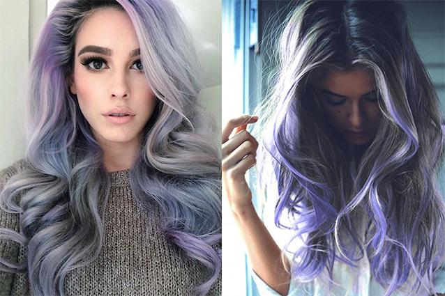 Smokey lilac hair i capelli grigi si arricchiscono con le - Bagno di colore grigio capelli ...