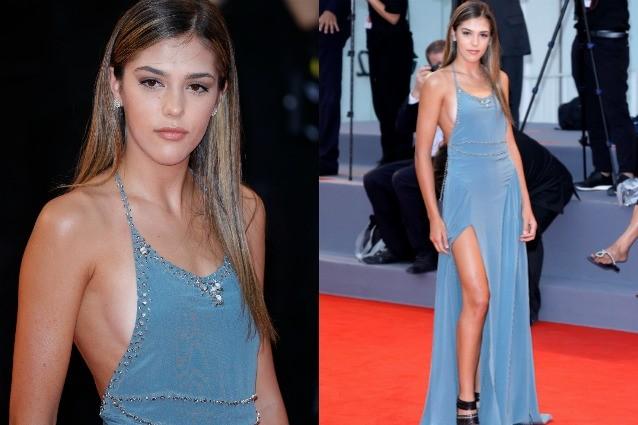 Sistine, la figlia di Sylvester Stallone, sfila come una diva a Venezia