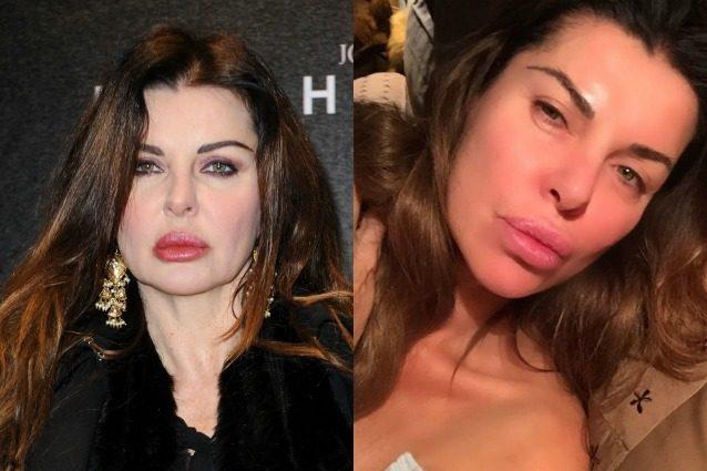 Alba Parietti prima e dopo il make-up: ecco com è senza trucco