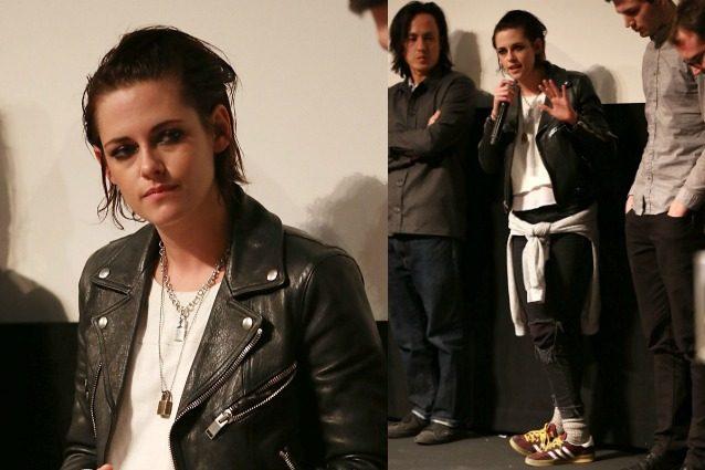Addio look glamour, Kristen Stewart va in giro con capelli sporchi e calzini in mostra