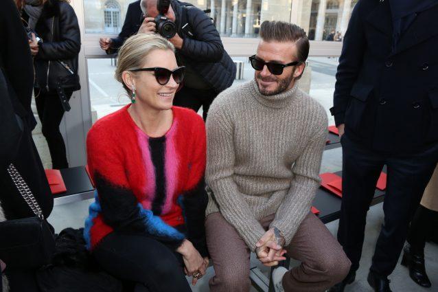 David Beckham e Kate Moss: la strana coppia alle sfilate di Parigi