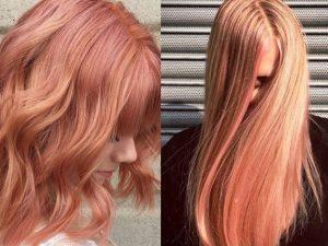 Foto colpi di sole su capelli biondi