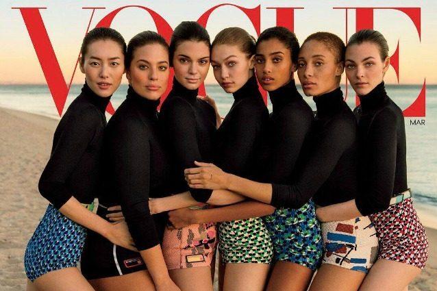 Le 7 modelle del momento in copertina: l'uso eccessivo di Photoshop scatena le polemiche