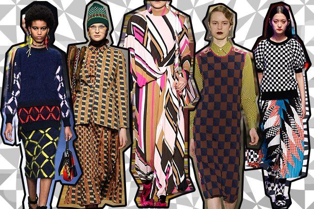 da sinistra Versace, Stella Jean, Emilio Pucci, Arthur Arbesser, MSGM