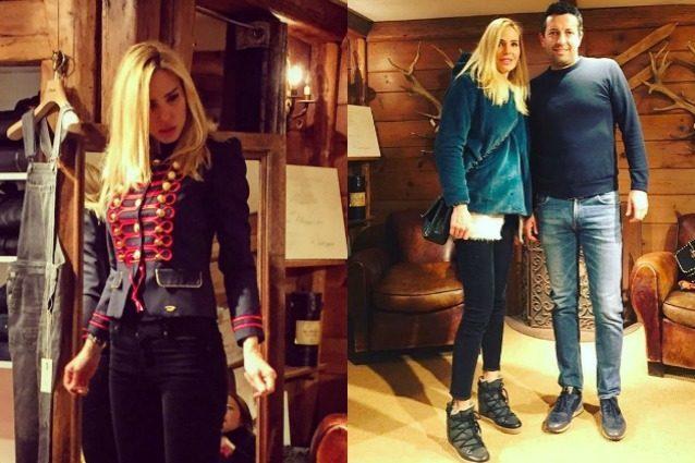Ilary Blasi e lo shopping in montagna: la showgirl sceglie la giacca da domatrice di leoni