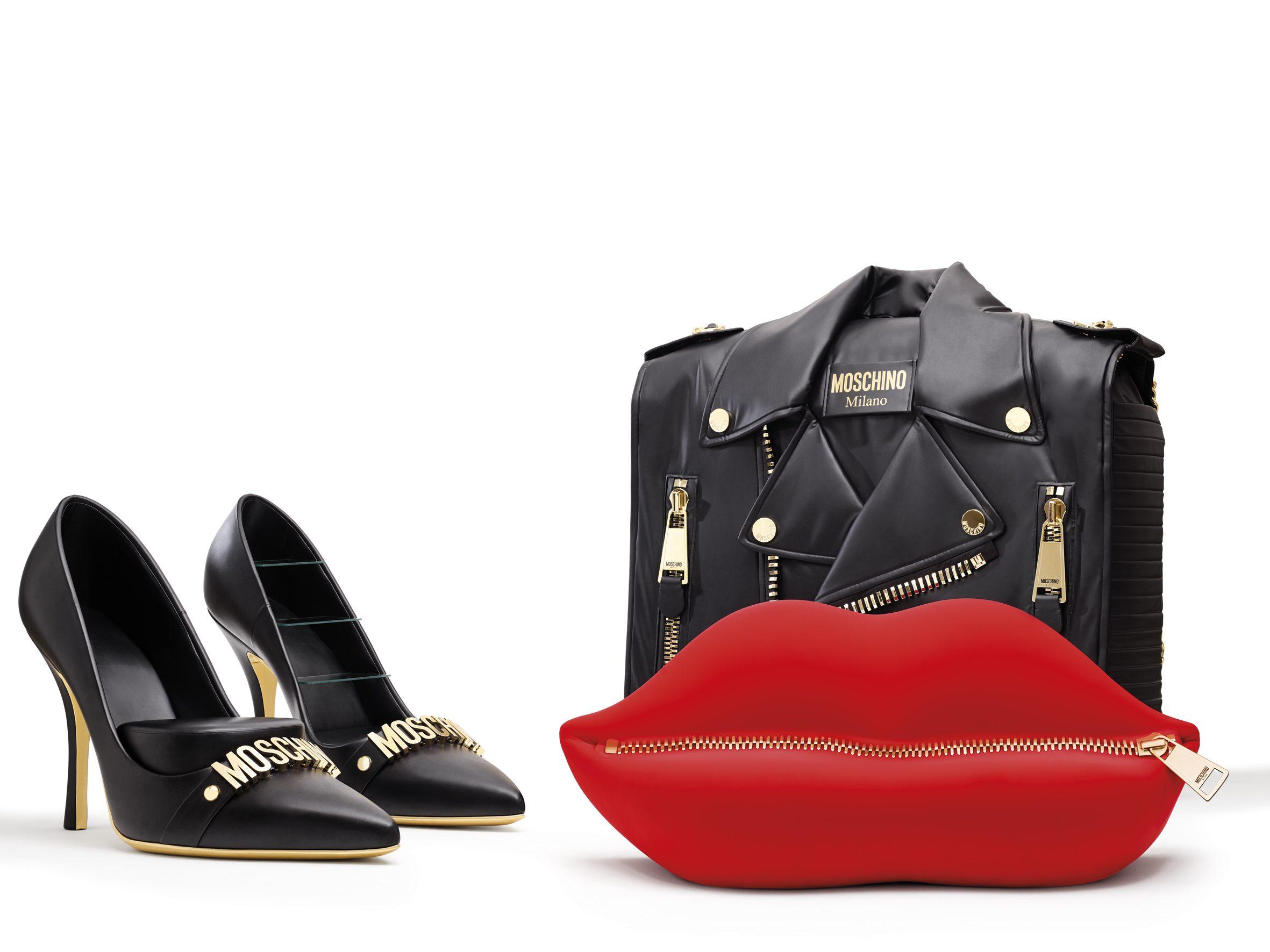 Il divano una bocca la poltrona una scarpa con il tacco i mobili fashion di moschino - Divano a bocca ...