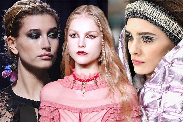 Cat eye e glitter: sulle passerelle di Parigi il make up è tutto sulle palpebre