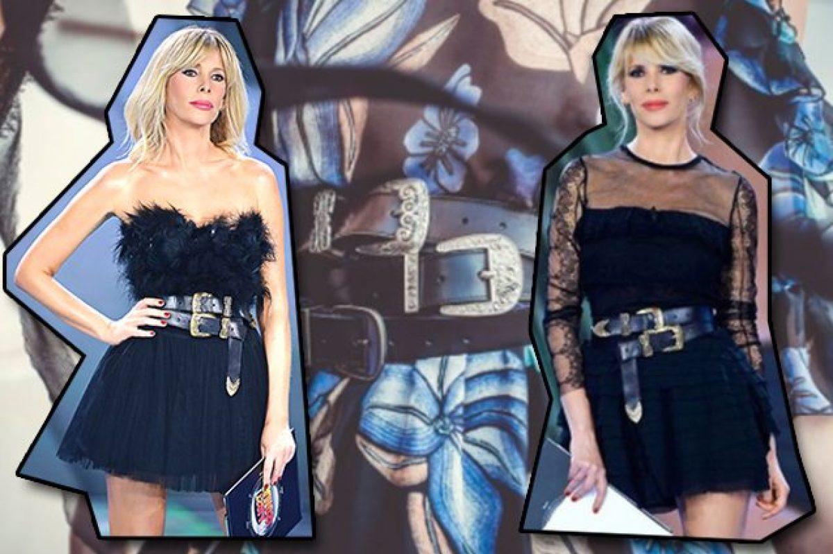miglior sito web grande vendita orologio Alessia Marcuzzi all'Isola lancia la moda della doppia cintura