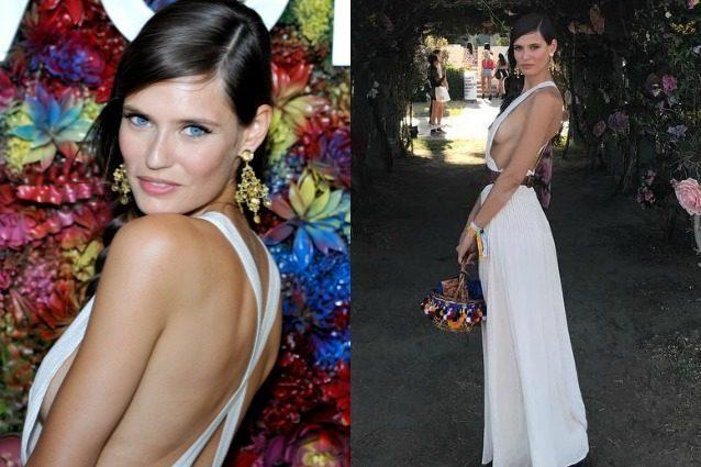 Il side boobs di Bianca Balti: la sensualità della modella incanta al Coachella