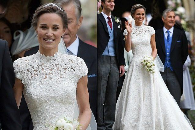 Matrimonio Kate Middleton : L abito da sposa di pippa middleton tutto quello che