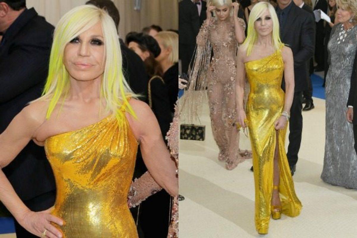 selezione migliore 2cdbd 4514d Chioma oro come il vestito: Donatella Versace abbina i ...