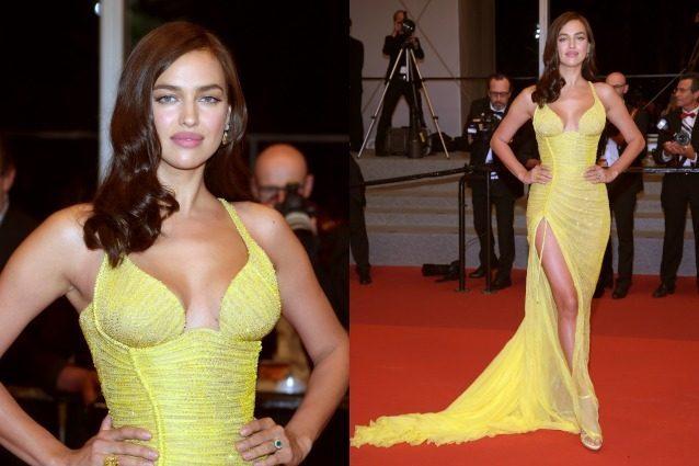 Irina Shayk bellissima a Cannes, a due mesi dal parto sfoggia un fisico da urlo