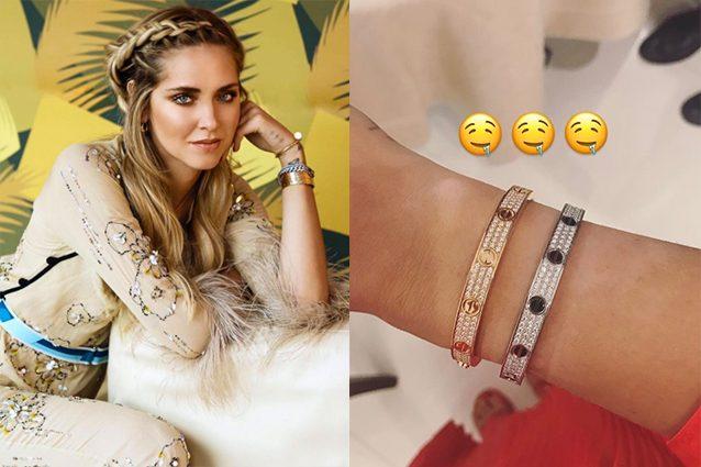 Chiara Ferragni e i gioielli preziosi: al polso bracciali da 82mila euro
