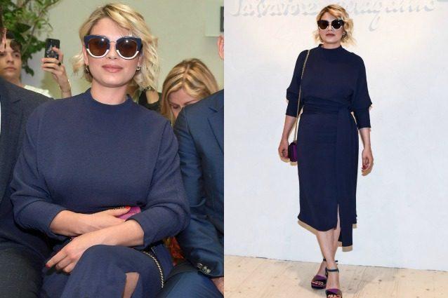 Emma Marrone dice addio allo stile rock: in versione lady alla Milano Fashion Week