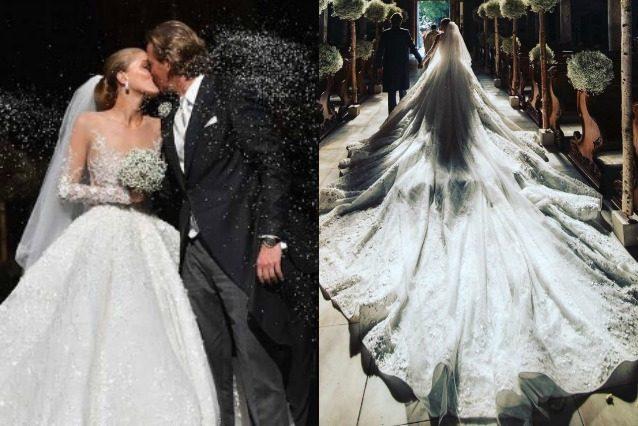 Cascata di cristalli per le nozze di victoria swarovski l for Luogo di nozze con cabine