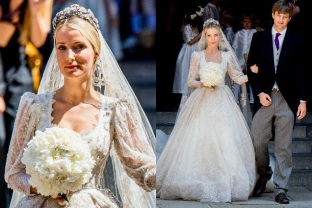 L'abito da favola di Ekaterina al matrimonio con Ernst, il principe di Monaco