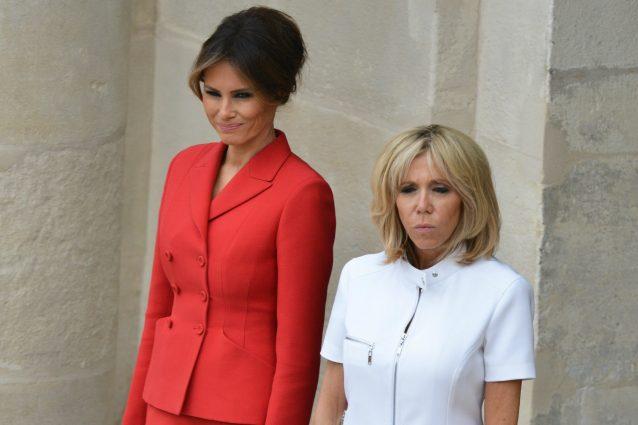 Melania Trump Vs Brigitte Macron: a Parigi il confronto di stile tra First Lady