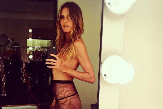 "Heidi Klum nuda, cosi va in ""ufficio"" la top model"