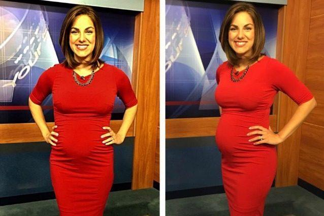 Disgustosa per un abito troppo stretto, la presentatrice incinta risponde così