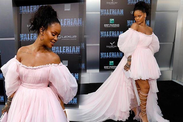 Secondo gli haters è grassa, ma quanto è bella Rihanna in rosa