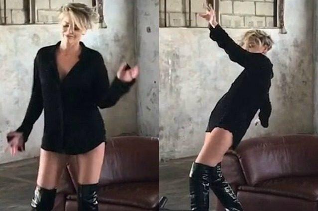 Il balletto sexy di Sharon Stone: a 59 anni la diva è ancora irresistibile