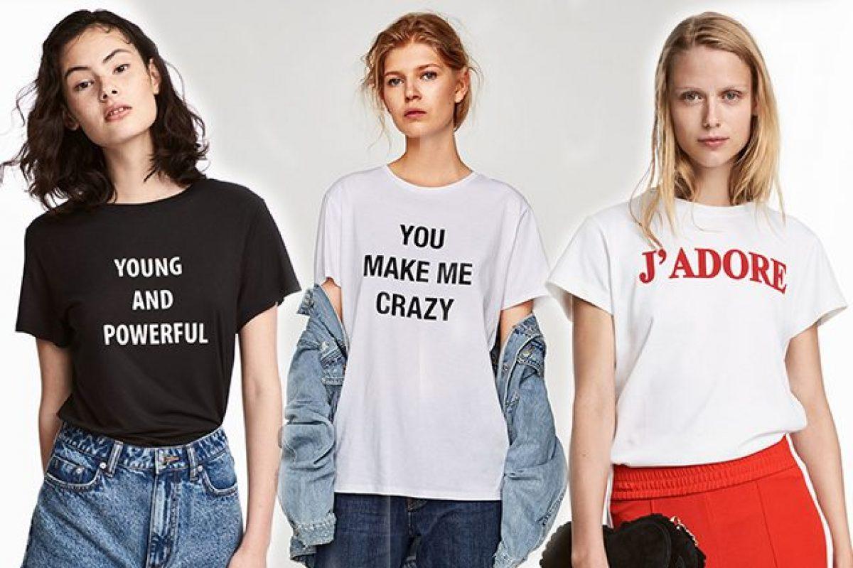 d086f0e2d4a4c1 Magliette e felpe con le scritte, sono di nuovo alla moda