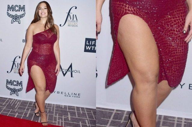 L'abito trasparente rivela l'intimo: Ashley Graham punta sulla sensualità sul red carpet
