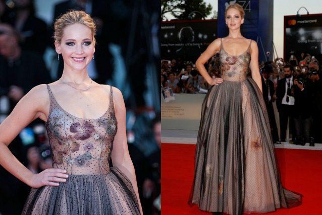 Gonna di tulle e trasparenze audaci: Jennifer Lawrence in versione principessa a Venezia
