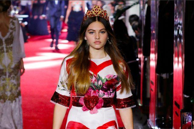 Thylane, l'ex bambina più bella della mondo torna in passerella per Dolce&Gabbana