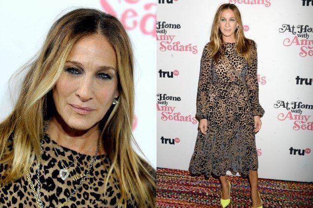 8f8783dcb676 Sarah Jessica Parker come un leopardo: sfoggia la fantasia animalier sul  red carpet
