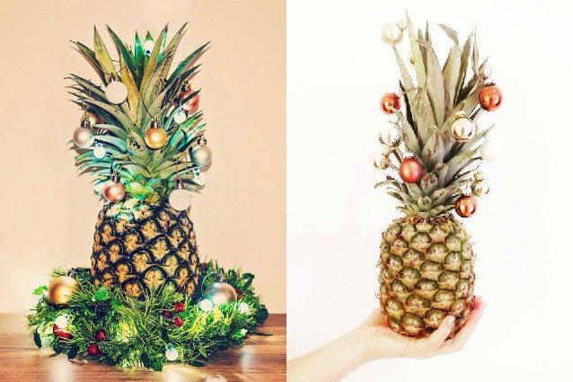 Ananas di natale la nuova moda che spopola sui social for Albero di ananas